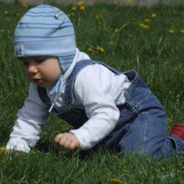 Fotografie miminka jak naučit dítě lézt po čtyřech