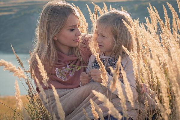 Fotografie maminky a holčičky